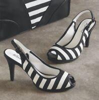 Clarie Slingback Pump Heels Formal Ashro Shoes Wedding Church Career Sz 11 12 M