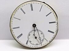 Antique Jules Mathey Lacle Pocket Watch Movement. 36 mm in size. porcelain dial