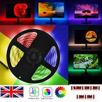 LED Strip Lights RGB Colour Changing Tape Under Cabinet Kitchen TV Lighting