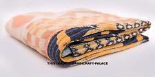 Indian Vintage Embroidered Kantha Quilt Cotton Patchwork Decor Blanket Bedspread