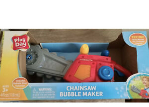 Play Day Bubble Maker Chainsaw  Outdoor Pretend Play Toy For Kids Best Gift NEW