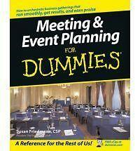 Meeting and Event Planning For Dummies, Susan Friedmann | Paperback Book | 97807