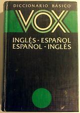 Diccionario Basico Ingles-Espanol Espanol-Ingles - 1989 - Very Good