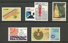 UN-Geneva # 98-104, 1981 Annual Set, Unused NH