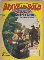DEC 24 1910 BRAVE AND BOLD WEEKLY magazine TREASURE BY THE BARREL