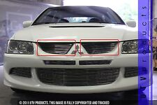 GTG, 2003 - 2006 MITSUBISHI LANCER EVO 8 2pc CHROME UPPER BILLET GRILLE KIT