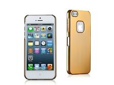 Momax Ultra Thin Gold Glossy Metallic Case with Screen Protector for iPhone 5