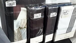 NWT Yves Delorme1245$ Bedding Set(7 items) in Triomphe Black 100%Cotton Sateen