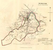WINDSOR borough/town plan. REFORM ACT. Eton Great Park Berks. DAWSON 1832 map