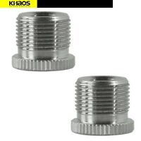 2x Metal Adapter 5/8-Inch Male to 3/8-Inch Female Mic Screw for Mic Microphone