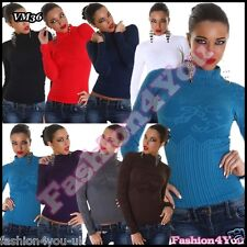 Sexy Womens Jumper Ladies Pullover Casual Fitted Blouse ONE SIZE 6,8,10,12 UK