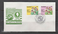 Philippine Stamps 1990 Girl Scouts of the Philippines, 50th Ann. Complete FDC
