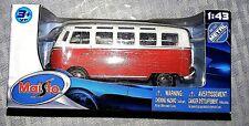 Maisto Volkswagon VW Van SAMBA Bus Diecast Metal 1:43 Scale  #21198