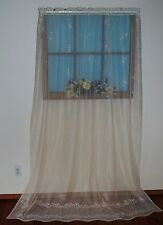 HERITAGE LACE IVORY/ECRU SHEER DESIGN CURTAIN PANEL 62WX84L ITEM A157