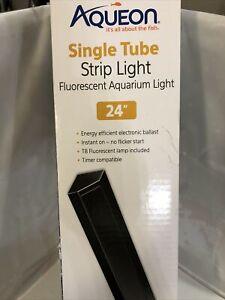 "24"" Aqueon Fluorescent Black Strip Light replacement strip-light for Deluxe Hood"