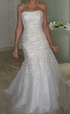 amanda wyatt wedding dress Size 10 Champagne