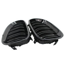1 Pair Gloss Black Front Kidney Grilles Grill For BMW E60 E61 5 Series NEW