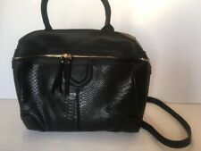 Black Office Bag With Pom Keyring Trendy