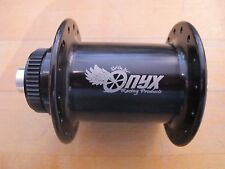 Onyx Front Centerlock Disc Hub 100mm 32 Hole 12mm Thru Axle Black