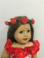 "Flower Crown Fairy fits 15/"" 18/"" American girl Doll Bitty Baby Princess Costume"