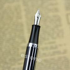 Hot Sale Fountain Pen Medium Nib Silvery Black BAOER 051