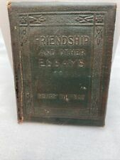 Friendship And Other Essays Mini Book by Henry Thoreau, Antique