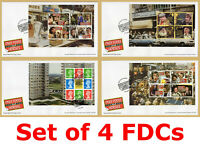 2021 ONLY FOOLS AND HORSES *SET of 4* Prestige Booklet PSB Pane FDCs