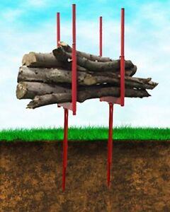 Bulk Log Stand Spike Saw Horse Multi Wood Holder Chainsaw Cutting Sawhorse BLSS