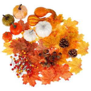 120pc Artificial Pumpkin Harvest Autumn Fall Wreath Banquet Halloween Decoration