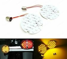 2x 1156 BA15s Amber 27 SMD LED Rear Turn Signal Light Bulb For Harley-Davidson