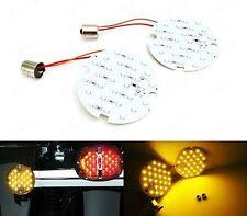 2x 1156 BA15s Amber 27 SMD LED Rear Turn Signal Light Bulb For Harley-Davidson