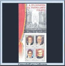 2001 Italia Repubblica Foglietto Melodramma n. 32 Nuovo Integro **