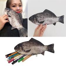 Silver Carp Real Fish-like Zipper Pen & Make-up Pouch Pencil Case Funny Rare - S