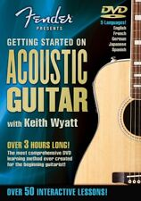 Fender Presents Getting Started on Acoustic Guitar Instructional NEW 000320294