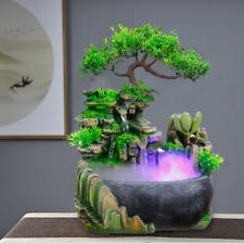 Resin Decorative Fountains Water Fountains Creative Craft Desktop Home Fengshui