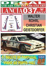 Decal Lancia 037 Rally W.Rohrl R. De Portugal 1983 3rd (08)