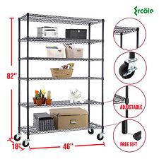 "6 Tier 82""x48""x18"" Steel Layer Wire Adjustable Shelving Rack Shelf"
