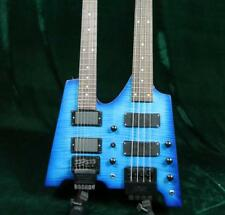 Starshine Double Neck Headless Electric Guitar Electric Bass Figured Maple Top