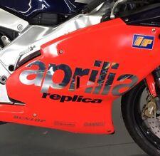 2x CHROME APRILIA LOGO DECAL Aprilia RS250 Rossi Replica 1998(N/S & O/S) Sticker