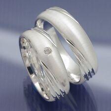 Verlobungsringe Trauringe Partnerringe aus 925 Silber mit Zirkonia P7112004