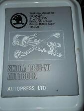 SKODA 440 445 450 FELICIA OCTAVIA WORKSHOP MANUAL 1955 - 1970 SUPER ROADSTER COM