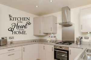 The Kitchen is the heart of the home vinyl  wall art Sticker Decal Home decor