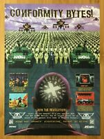 Revolution X Feat. Aerosmith PS1 Saturn 1995 Vintage Poster Ad Print Official