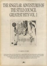 11/3/89Pgn11 Advert: 'the Singular Adventures Of The Style Council' 15x11