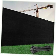 Black Fence Privacy Screen Windscreen Cover 6' x 50' Black 2nd Generation