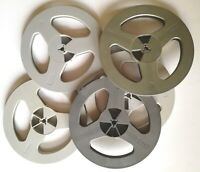 "5pcs Gray Empty Reel Spool for Recording Tape 7"".For music lovers & collectors."