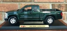 MAISTO SPECIAL EDITION  1:18 GMC CANYON 2004 DARK GREEN BRAND NEW FACTORY STRAPS