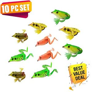 UFISH - Bass fishing frogs, Fishing frog lot, Soft frog lure, Topwater frog lure