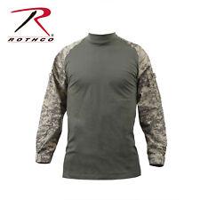 Long Sleeve Combat Shirt Heat Resistant Tactical Military Rothco, Camo, Medium