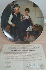 "Norman rockwell 81/2"" plate knowles The lighthouse Keeper's daughter"